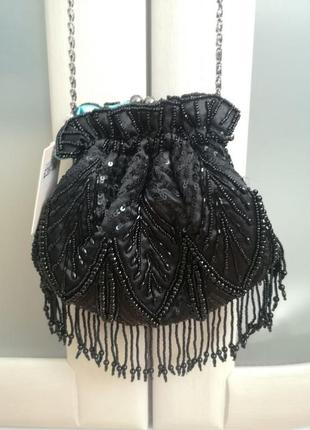 Шикарная вышитая  театральная сумочка клатч tula