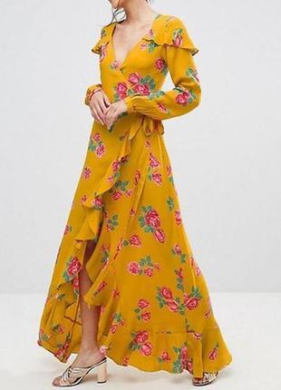 Asos асиметрична квітчаста сукня на запах