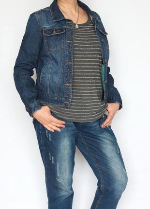 Крутая джинсовая куртка, informals. большой размер.