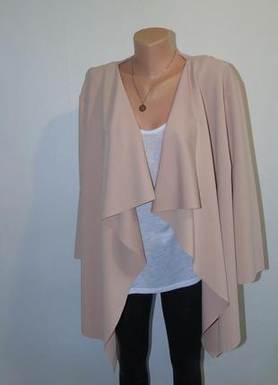 Пудровый пиджак shein
