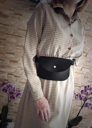 Новая шикарная качественная сумка кожа pu /поясная сумка бананка / через плечо / клатч