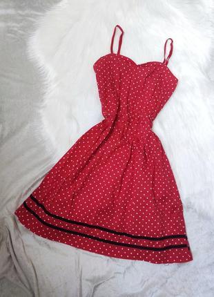 Плаття, платье, в горошок, в горох, червоне, красное