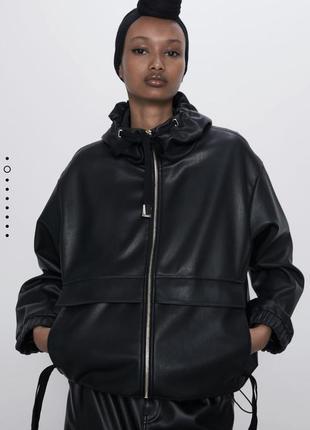 Куртка под кожу zara