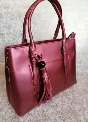 Деловая сумка, натуральная кожа.