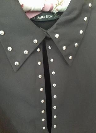 Блузка,рубашка с заклепками zara
