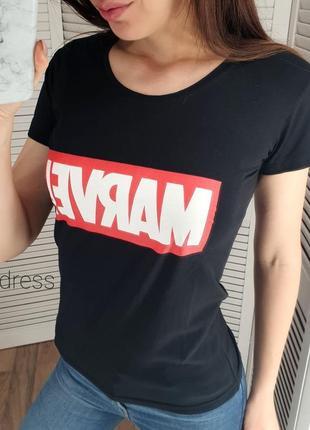 Акция! черная футболка марвел 220 грн