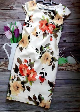 Стильное силуэтное платье миди