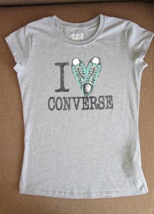 Сіра футболка i love converse