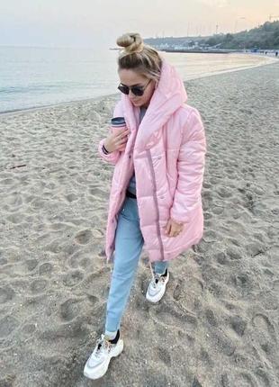Зимняя теплая куртка зефирка