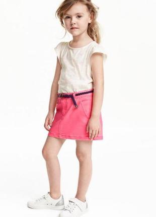 Твиловая юбка с ремнем h&m