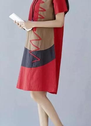 Платье в стиле бохо с карманами zanzea