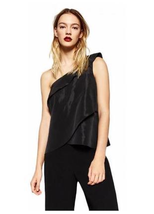 Асимметричная блуза на одно плечо zara