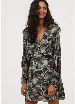 Платье с рисунком и оборками johanna ortiz × h&m