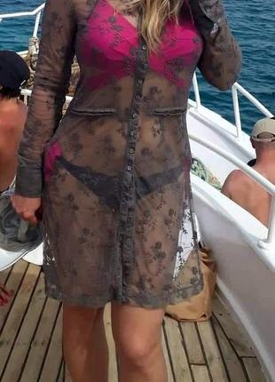Пляжное платье платья шифоновое туника