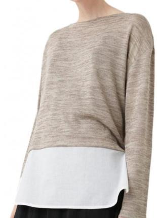 Новая блуза кофточка с имитацией рубашки по низу mango