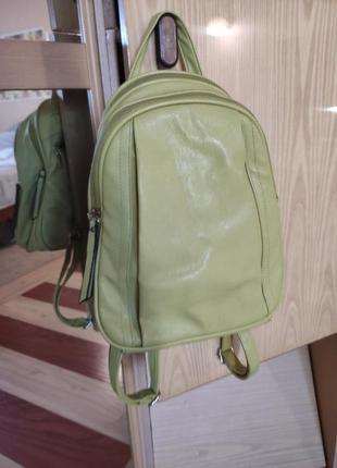Рюкзак компактный фисташкового цвета