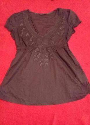 Блуза-туника из тончайшего хлопка   eds