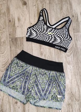 Спортивный костюм, комплект для занятий спортом nike dri-fit опигинал шорты+майка