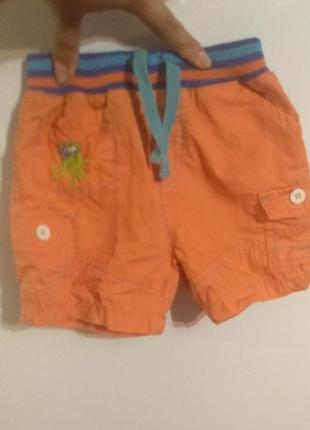 Детские шорты оранжевые