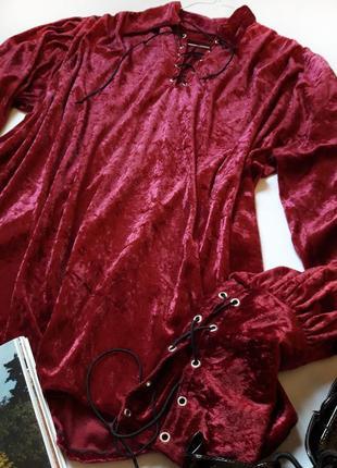 Шикарная бархотная блуза