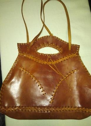 Эксклюзивная кожаная сумка.