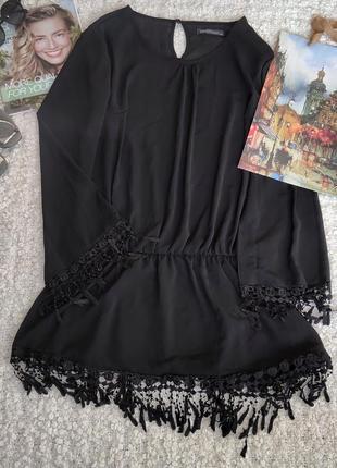 Шифоновая блузка ,туника с ажуром