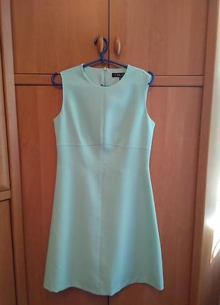 Платье новое классическое деловое бизнес офис нарядное бирюзовое купить киев