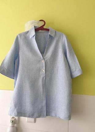 Льняная рубашка mango