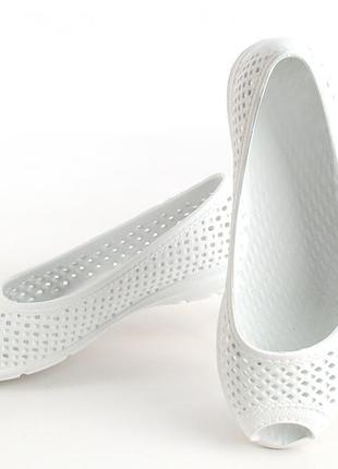 Балетки женские, белые, р. 36, 37, 39, 40, 41, медицинская обувь,115500