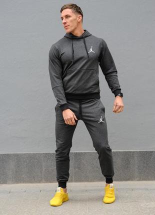 Темно-серый мужской спортивный костюм jordan (джордан), весна-осень