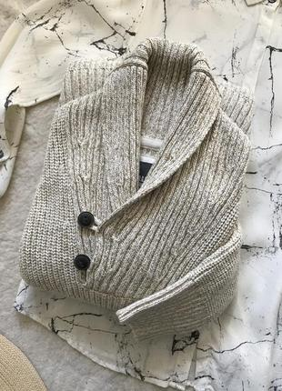 Хлопковый вязаный меланж свитер с горлом l.o.g.g.