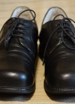 Комфортные черные фирменные кожаные ортопедические туфли helvesko швейцария 45 р.