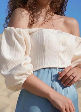 Блуза с объёмными рукавами/топ