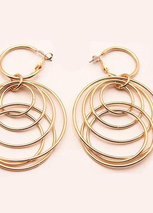Модные минималистичные серьги сферы круглые сережки кольца