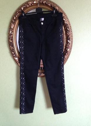 Шикарные зауженные брюки с лампасами  h&m