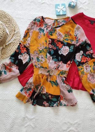 Красивая блуза с резинкой на поясе