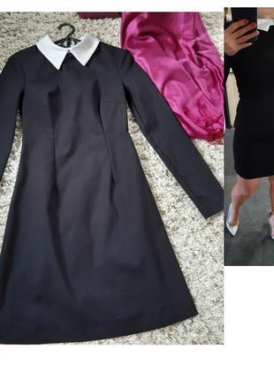Стильное маленькое чёрное платье с белым воротником, mohito, p. 34