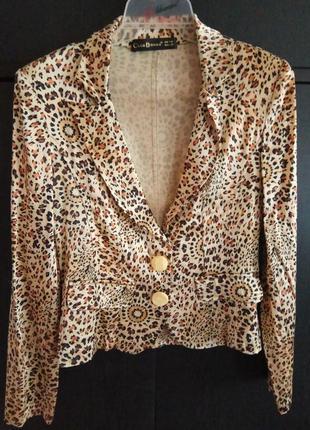 Пиджак леопардовый принт club donna