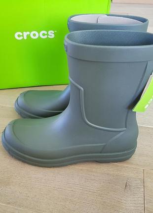 Сапоги для дождя , резиновые crocs allcast