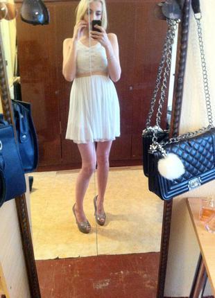 Платье , легкое платье, гипюр , фатин