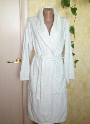 Тёплый махровый халат украшен камнями/халат/платье/кофта/ночнушка/слип/кигуруми