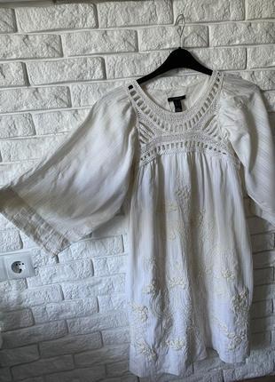 Платье белое mango
