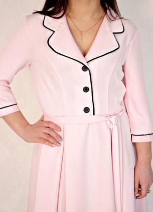 Платье в пижамном стиле халат розовое с кантом кантиком