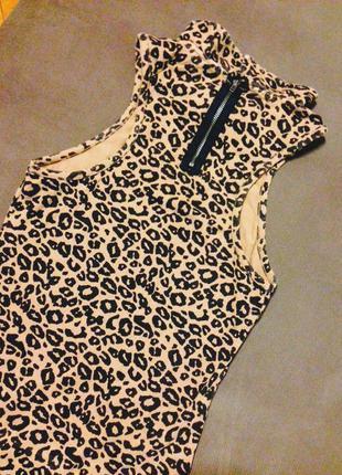 Леопардовое платьице миди topshop