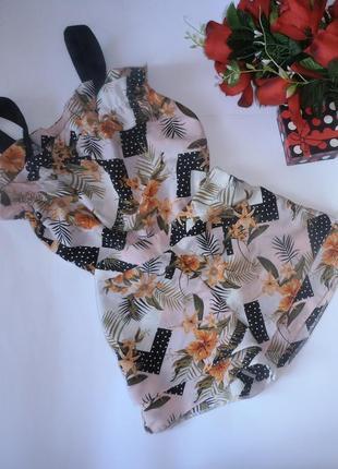 Красивенный летний костюм с цветочным принтом river island