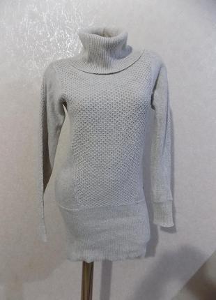 Платье-туника теплое вязаное под горло фирменное mexx размер 44-46