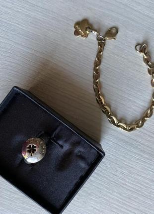 Комплект браслет кольцо в стиле chanel