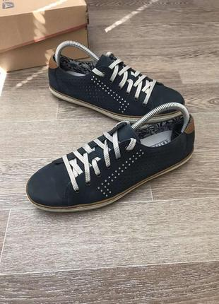 Rieker antistres кожаные дышащие мокасины туфли кеды 40р