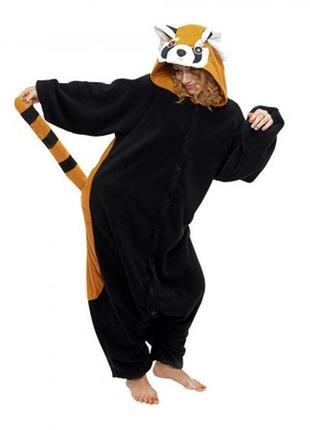 Кигуруми костюм красная панда енот взрослый унисекс