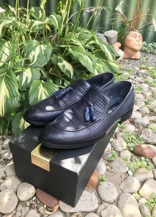 Мужские крутые классические  лоферы туфли luciano bellini  натуральная кожа